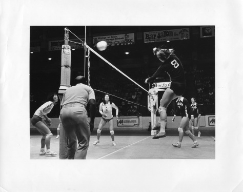 Claire (#8) in action for Team Canada against South Korea in the run up to the 1976 Olympic Games.